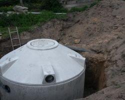 Regenwasser Sammel-und Sickergruben